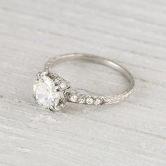 Image of .88 Carat Vintage Art Deco Engagement Ring