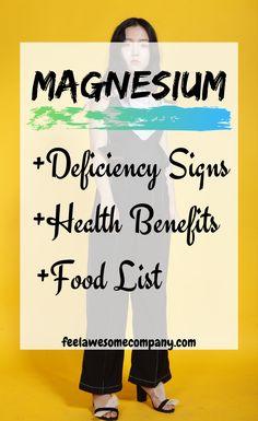 Magnesium benefits for health and wellness. Magnesium is an essential mineral for good health and wellness. In this article you'll learn about the health benefits of magnesium, as well as some magnesium rich foods and magnesium deficiency symptoms. Discover the health benefits of magnesium here! #magnesium #magnesiumbenefits #health #wellness