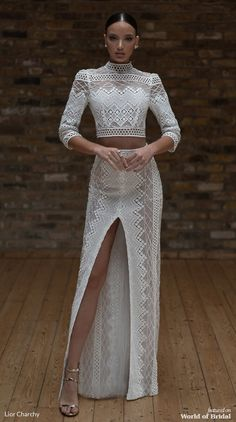 Lior Charchy 2019 Wedding Dresses - World of Bridal Types Of Wedding Gowns, Country Wedding Dresses, Princess Wedding Dresses, Bridal Dresses, Elegant Dresses, Formal Dresses, Two Piece Wedding Dress, Types Of Dresses, Dream Dress