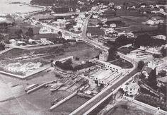 Vista aérea de Perillo, Oleiros, en 1971 Paris Skyline, City Photo, Industrial, Travel, Beautiful, Portugal, Santa, City, The Neighborhood