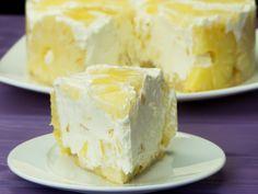 Tort de iaurt cu ananas- cel mai gingaș tort fără coacere, merită să-l încercați!