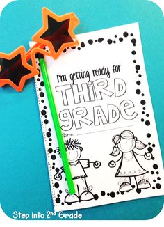 Review booklet to complete at end of third grade/send home with kids to complete over the summer. Offer prizes if they complete it and bring it back!