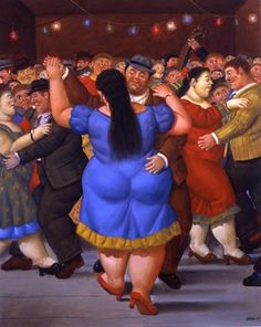 Fernando Botero - one of my favorite artists. His paintings always make me smile....