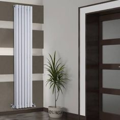 Hudson Reed Revive Verticale Dubbelpaneel Design Radiator 1780mm x 354mm - 2021 Watt - Wit