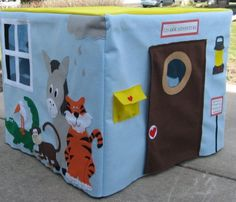 Noah's Ark Card Table Playhouse Personalized by missprettypretty, $205.00