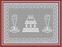 Digital PDF Filet Crochet Wedding Cake and by CrochetMyStyle