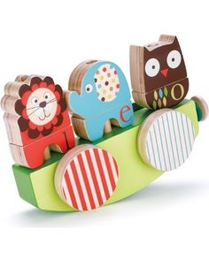 Skip Hop Alphabet Zoo Rock and Stack Pull Toy