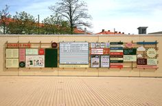 SIGN CONCEPT atFolkets Park Entrance by Byggstudio