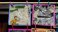 2016 UNBOUND Book Art & Craft Contest 2nd place winner, Group division, by Edna Brewer Middle School art students