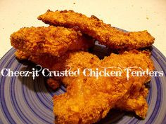 Cheez-It Crusted Chicken Tenders | RecipeLion.com