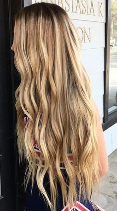 blonde balayage highlights on mermaid long hair! hair goals