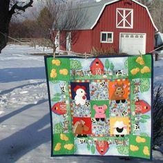 Farm Theme baby quilt pattern.