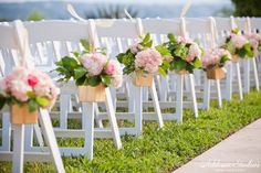 Ceremony Chairs at Gazebo | Vintage Villas | Addison Studios | Flowers by Cathy Shay