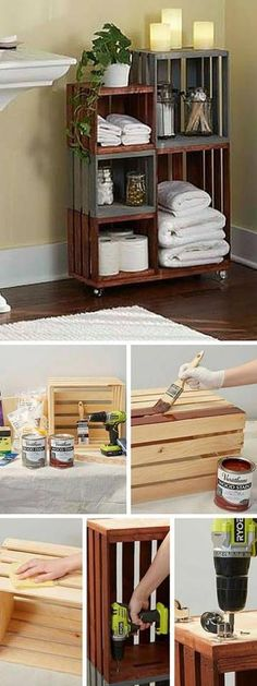 If you are searching for means to improve your small bathroom, after that these DIY space-saving bathroom storage ideas are just for you! Add storage to your bathroom without occupying too much space with this slim coordinator. Space Saving Bathroom, Small Bathroom Storage, Diy Bathroom Decor, Bathroom Ideas, Redo Bathroom, Budget Bathroom, Bathroom Signs, Cheap Home Decor, Diy Home Decor