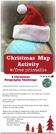 Christmas Around the World: Map Activity {w/free printable!} : Both kids & adults will enjoy this Christmas Around the World Geography Activity as they explore maps and globes with this free printable game! Christmas Gifts For Women, Christmas Books, Christmas Fun, Christmas Parties, Christmas Writing, Christmas Projects, Around The World Games, Holidays Around The World, Printable Christmas Games