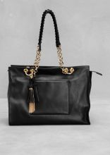 Leather tassel tote