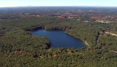 Thoreau's Walden Pond, Massachusetts. Aerial photo from Aerial America. http://www.smithsonianchannel.com/site/sn/show.do?episode=137817#images