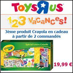 #missbonreduction; 1,2,3 vacances: 3ème produit Crayola en cadeau à partir de 2 commandés sur Toysrus. http://www.miss-bon-reduction.fr//details-bon-reduction-Toysrus-i852715-c1826054.html