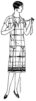 Past Patterns: #2792: Ladies' and Misses Dress with Kimono Sleeves: Circa 1928-1929