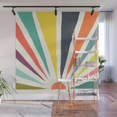 Buy Rainbow ray Wall Mural by budikwan. Worldwide shipping available at Society6.com. Just one of millions of high quality products available.