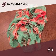Floral scarf Floral eternity scarf in crinkle fabric Accessories Scarves & Wraps