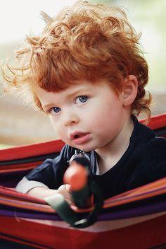 This is soooooo how my little boy will look!! Red headed holy terror like his dad.