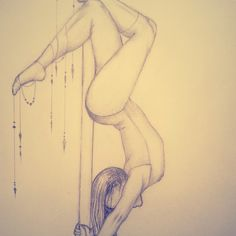 pole dancer sketch, pencil on paper