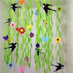 spring into summer a vibrant display for the classroom – PIPicStats - New Deko Sites Decoration Creche, Spring Decoration, Class Decoration, School Decorations, Spring Birds, Spring Art, Spring Crafts, Spring Summer, Diy And Crafts