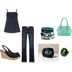 Summer hangout by elizabeth-mauch-bergeron on Polyvore