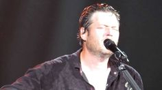 """Blake Shelton performing """"Over You"""" in Charleston, WV on as part of the Ten Times Crazier Tour. Song Of The Year, Song One, Country Music Videos, Country Songs, Blake Shelton Miranda Lambert, Silly Love Songs, First Time Video, The Power Of Music, Types Of Music"""
