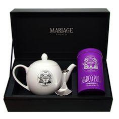 DÉGUSTATEUR - Black tea, teapot & tea caddy spoon set Marco Polo®