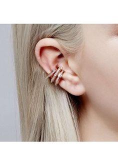 Fitzgerald Circle Ear Cuff in Rose Gold