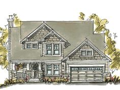 The Palmyra Craftsman Style Home has 3 bedrooms, 2 full baths and 1 half bath. See amenities for Plan 026D-1204.