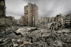 Destruction in Beirut as a result of the Israeli-Lebanon war Chernobyl, Lebanese Civil War, Fallout New Vegas, Post Apocalypse, Abandoned Places, Abandoned Castles, Haunted Places, Abandoned Mansions, End Of The World