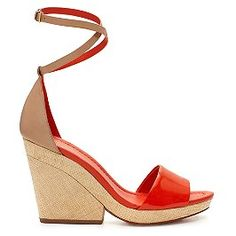 this wedge is interesting but looks like its comfortable too - kate spade spring 2012