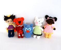 little miniature dolls the Daniel tiger's Neighborhood tiger kittycat owl prince interactive active game