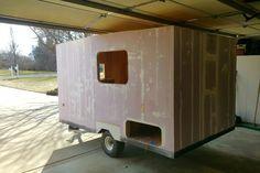 Homemade Camper, Diy Camper, Truck Camper, Camper Ideas, Camper Van, Model Boat Plans, Boat Building Plans, Tiny Camper Trailer, Teardrop Trailer