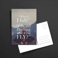 POSTKARTE what if i fall? Oh my Darling, what if you fly?: 1,60€