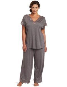 Natori Women's Plus-Size Zen Floral Pajama, Gray, 2X Natori. $150.00