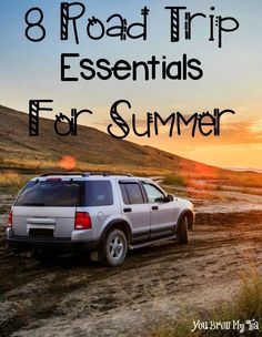 8 Road Trip Essentials For Summer are a must for your upcoming road trip destinations!  Check out these great tips before you hit the road!