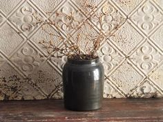 Vintage Stoneware Crock Brown by TreasuredPrimitives on Etsy https://www.etsy.com/listing/245845918/vintage-stoneware-crock-brown
