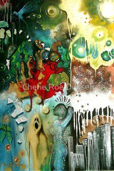 'Resurrection' - Muse (No. 7 in the Rock Music Art Series) by Cherie Roe Dirksen Original Paintings, Original Art, Spray Paint On Canvas, South African Artists, Art Series, Art Portfolio, Rock Art, Landscape Art, Art Blog