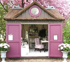 Cottage Décor ● Garden Office Retreat