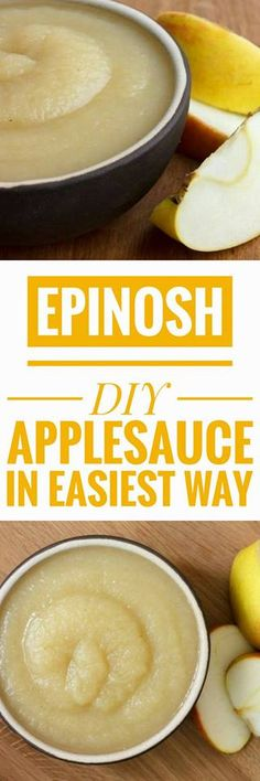 Although perhaps less popular than potato, applesauce is highly recommended when we want to contribute a touch sweet, as accompaniment to some meat, especially pork or if we want a rich dessert.