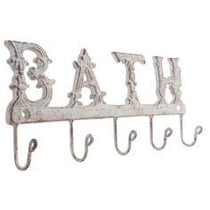 Fém fürdőszoba fali fogas 5-ös antikolt Bathroom Hooks, Vintage, Vintage Comics