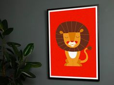 Lion Screen Print by Chris Rain for Airside: $65