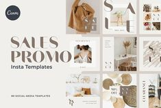 Simple and elegant templates for those who want to announce a sale without compromising their brand image. I've prepared a total of 80 templates, 40 each in square and rectangular sizes for use on Instagram, Twitter, Pinterest, etc.This totally editable social media template is perfect for savvy business owners on a budget looking to brand themselves professionally. This template pack works for both free and pro-Canva user. #ad Social Media Template, Social Media Design, Instagram Grid, Instagram Posts, Huge Design, Instagram Story Template, Instagram Templates, Creative Instagram Stories