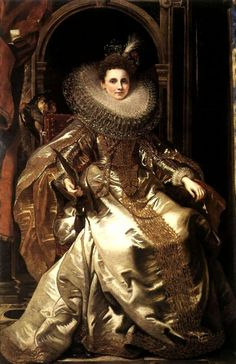 1606 Peter Paul Rubens (Flemish, 1577-1640) ~ Portrait of Maria Serra Pallavicino  Now that's a ruff!