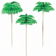It's all in the finishing touches! Garnish your tropical drinks with a decorative palm tree!