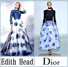 Raf Simons for Dior, nod to Edith Head's costume design-- it's all about the shape.